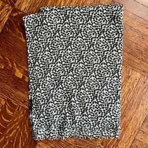 J.Crew Black/White Animal Print Scarf